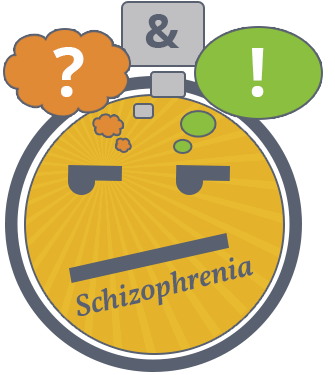 animated face describing schizophrenia