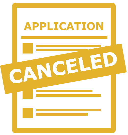 canceled applications