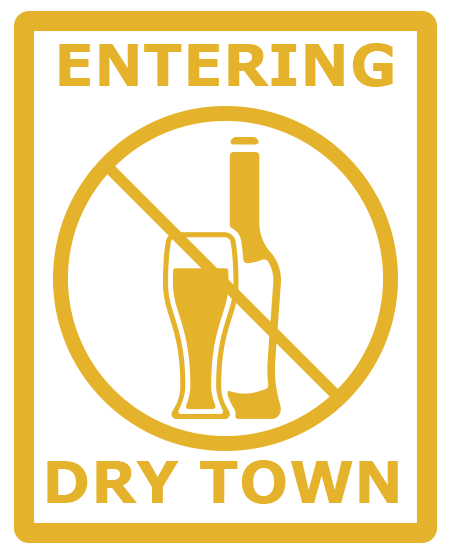 dry town alcohol free