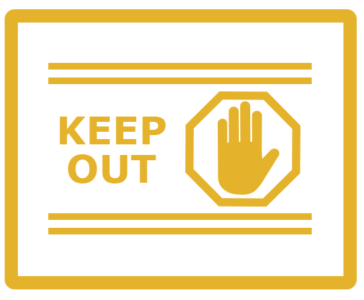 keep out logo