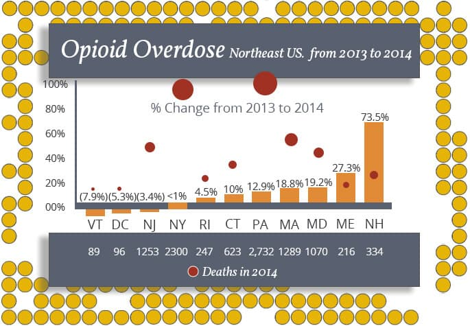 Opiate Overdose Stats Northeast USA