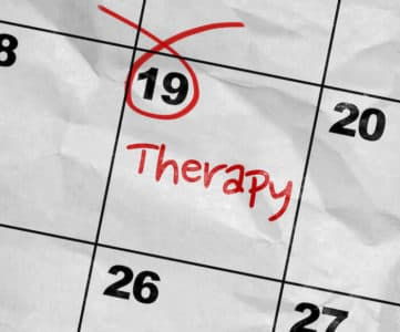 calendar market with day of treatment therapy